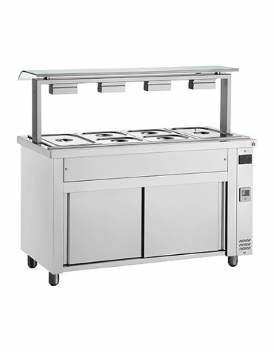 Inomak Gastronorm Bain Marie with Sneeze Guard MVV714